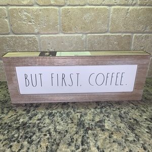 Rae Dunn But First Coffee Kitchen Sign